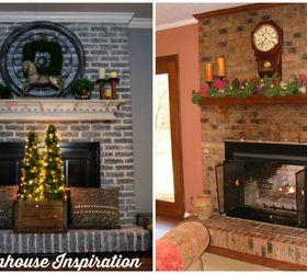 Painted Brick Fireplace-Farmhouse Inspiration | Hometalk