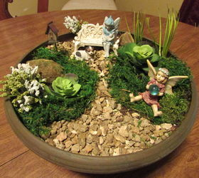 How To Make A Fairy Garden Using Pea Gravel, Container Gardening, Craft  Rooms,
