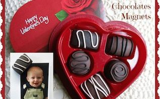 diy faux valentine chocolates magnets, crafts, seasonal holiday decor, valentines day ideas