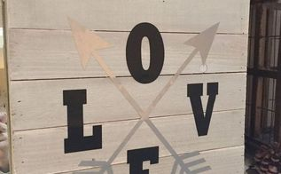 love rustic sign, crafts, pallet, seasonal holiday decor, valentines day ideas