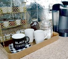 diy coffee station, organizing