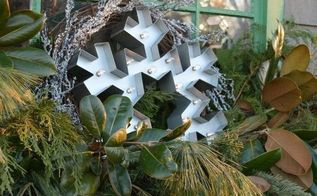 winter window dressing, container gardening, gardening, seasonal holiday decor