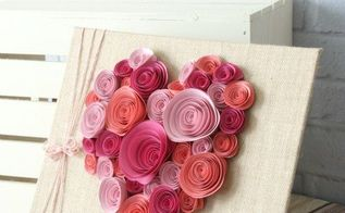 easy paper flower heart craft, crafts, seasonal holiday decor, valentines day ideas
