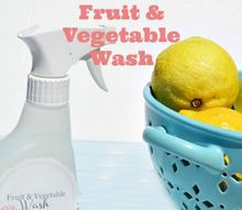 homemade fruit and vegetable wash, cleaning tips