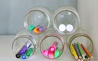 10 minute organization idea using mason jars, mason jars, organizing