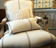 a beautiful new french covering for the chair, painted furniture, reupholster, After