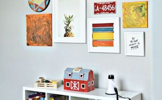 a modern bright colorful playroom makeover, entertainment rec rooms, organizing, painting