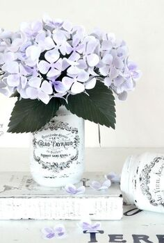 shabby french painted jars, crafts, mason jars, shabby chic