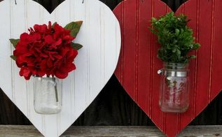 heart shaped mason jar valentines door hanger valentinesday, crafts, seasonal holiday decor, valentines day ideas