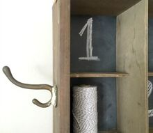 chalkboard cubbie storage, chalkboard paint, organizing, storage ideas