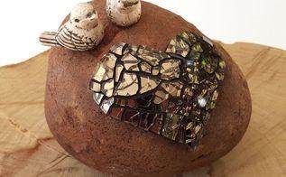 super easy little mosaic doorstop, crafts, gardening