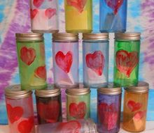 upcycled date night jars for valentines, crafts, diy, home decor, repurposing upcycling
