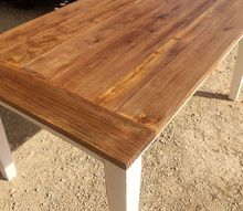 my newly recycled dining room table, painted furniture, woodworking projects, My new 18 farmhouse table