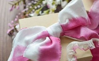 watercolor ribbon tutorial, crafts
