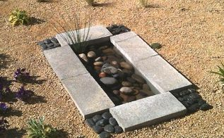 garden water feature under 30, diy, landscape, ponds water features