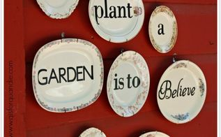 words on plates, crafts, how to, outdoor living, repurposing upcycling
