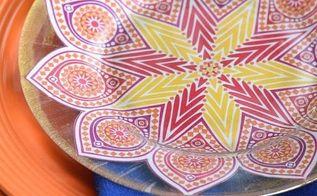 diy moroccan dessert plates, crafts, decoupage
