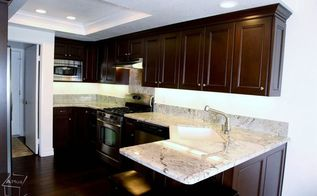 kitchen remodel with custom dark brown cabinets, bathroom ideas, home improvement, kitchen cabinets, kitchen design, laundry rooms, windows