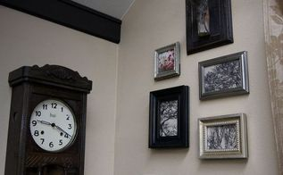 framed driftwood hung on the wall like an antler, crafts, living room ideas, wall decor