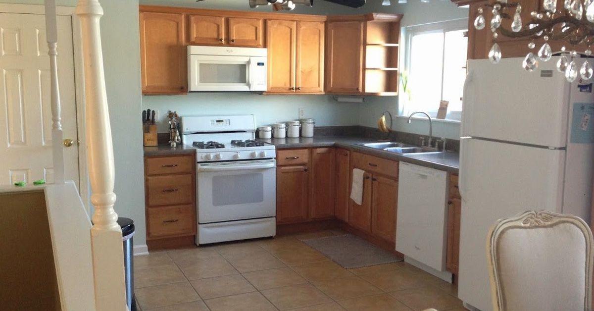 Kitchen makeover on budget hometalk for Kitchen cabinets 63021