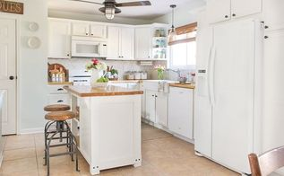 kitchen makeover on budget, countertops, kitchen cabinets, kitchen design, painting, rustic furniture, Final kitchen result