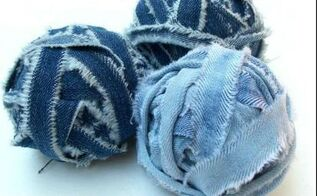 how to make denim yarn from old jeans, crafts, how to, reupholster