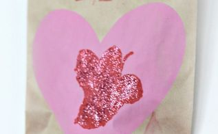 diy valentine s day treat bag, crafts, seasonal holiday decor, valentines day ideas