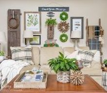 how to create a rustic gallery wall cozy up your room, how to, rustic furniture, wall decor