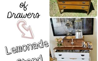 sad old drawers turned lemonade stand for a very special day, painted furniture, repurposing upcycling