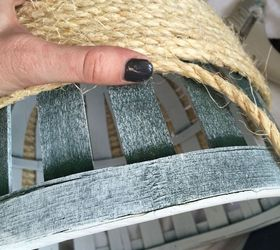 thrift store basket transformed with sisal rope crafts repurposing upcycling storage ideas - Sisal Rope
