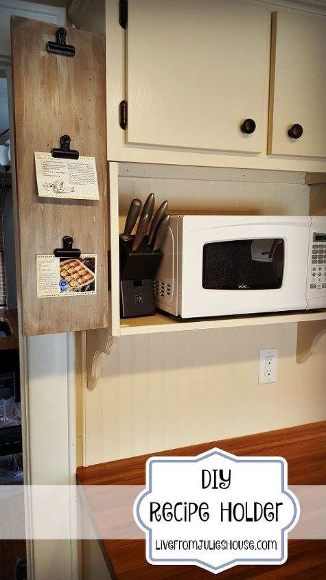 DIY Recipe Holder With Hinges | Hometalk