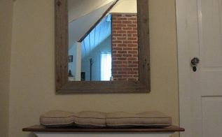 reclaimed wood mirror project, diy, fences, repurposing upcycling, wall decor, woodworking projects