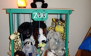 zoo stuffed animal storage side table organization 30dayflip, diy, organizing, painted furniture, storage ideas, woodworking projects