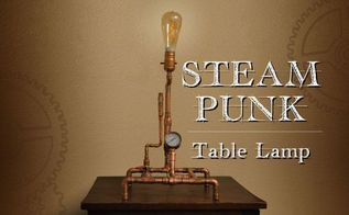 steampunk table lamp from copper tubing, diy, electrical, how to, lighting