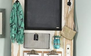 an a door able diy family message centre, chalkboard paint, doors, organizing, painting, repurposing upcycling
