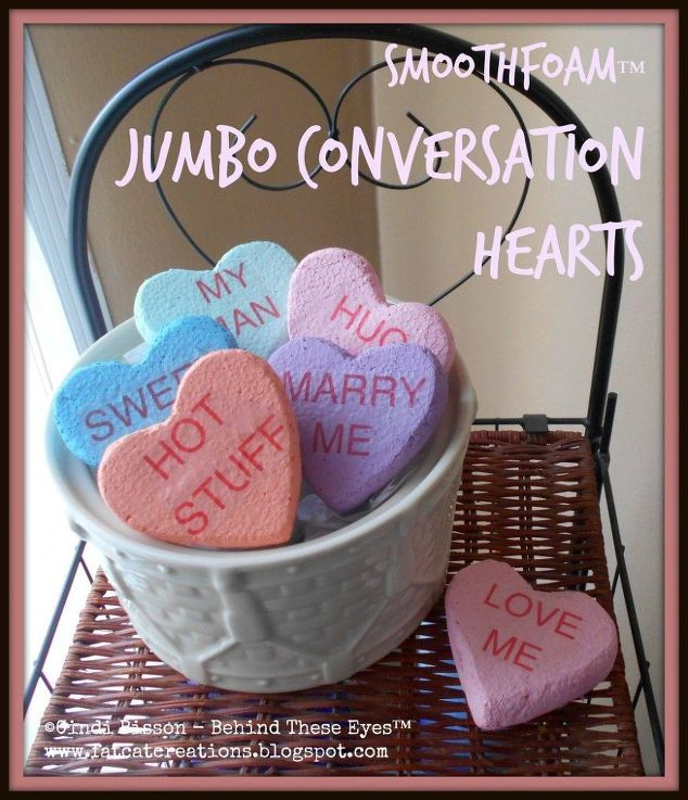 jumbo faux candy conversation hearts, crafts, seasonal holiday decor ...