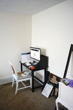 modern and vintage office makeover, home office, wall decor