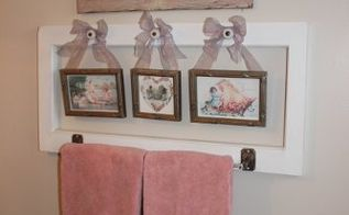 a valentine bathroom towel rack, bathroom ideas, repurposing upcycling, seasonal holiday decor, valentines day ideas