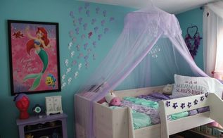 child s mermaid themed room, bedroom ideas, closet, organizing, storage ideas