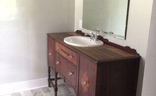 Vintage Vanity For Bathroom how to: make a custom master bathroom vanity   hometalk