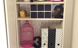 how to make a second hand bookshelf into a stylish built in 30dayflip, painted furniture, shelving ideas