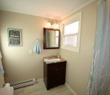 flip house bathroom before and after, bathroom ideas, home improvement