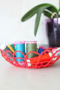 diy hot glue bowl, crafts, repurposing upcycling