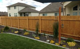got ugly metal fence posts easy diy cure, diy, fences, outdoor living
