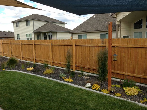 Got Ugly Metal Fence Posts Easy Diy Cure Fences Outdoor Living