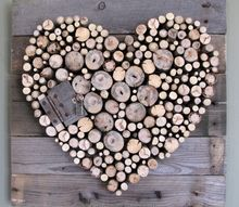 pallet wood and sticks valentine s heart, crafts, pallet, repurposing upcycling, valentines day ideas