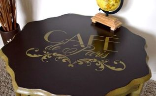 coffee table makeover using french inspired stencil, chalk paint, painted furniture