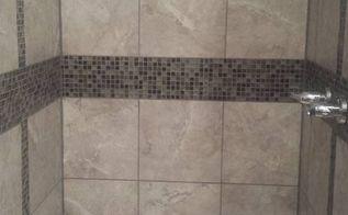 shower stall update, bathroom ideas, small bathroom ideas, tiling