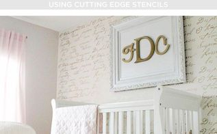 how to add a little love to your nursery using stencils, bedroom ideas, painting
