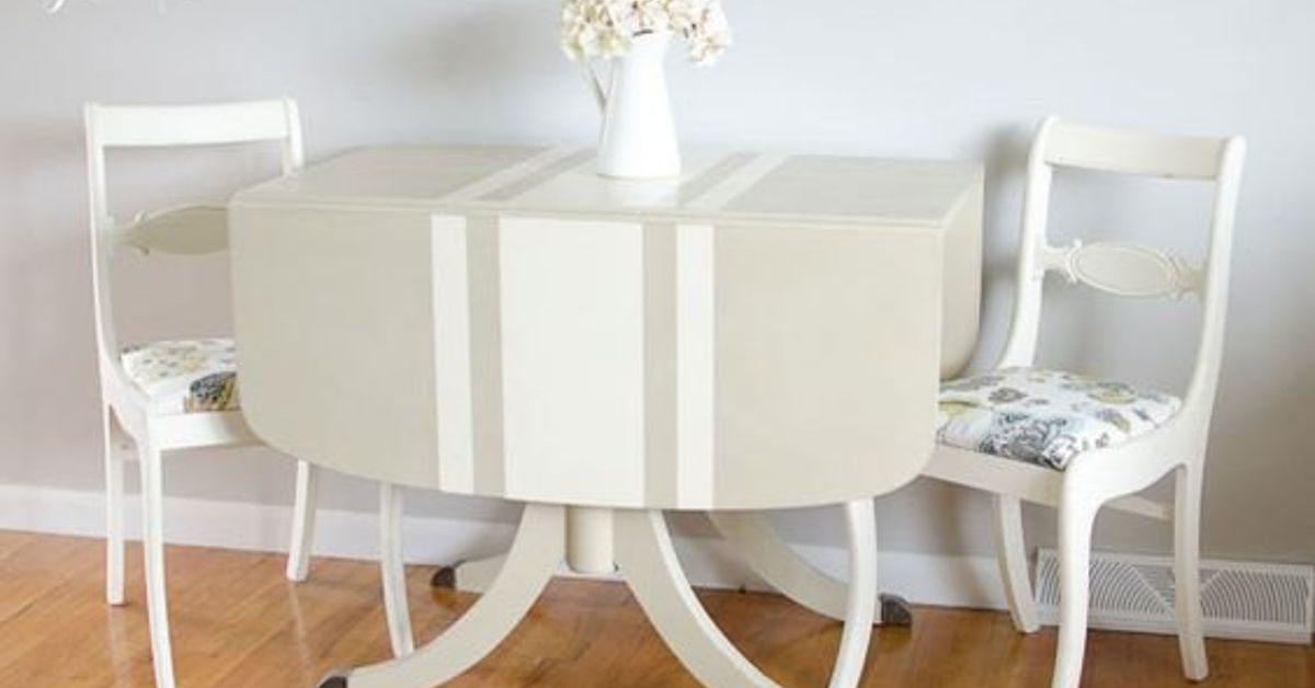 Can anyone tell me how to paint french grain sack stripes - Painting stripes on furniture ...